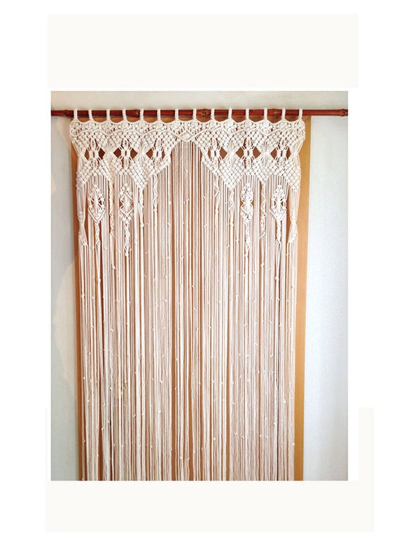 rideau en macram macram grande art fibre macrame art. Black Bedroom Furniture Sets. Home Design Ideas