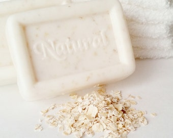 4 oz. Almond Oatmeal Soap, Handmade Soap, Goat's Milk Soap, Exfoliating Soap, Organic Soap, Moisturizing Bar, Oatmeal and Honey Soap