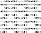 Black and white Modern Quilt Fabric, Four Corners Fabric, Stripe White, Arrows, Quilting Cotton, Simple Simon & Company, Riley Blake Designs
