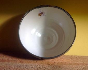 Pottery  Bee Bowl, ceramic bowl , handmade