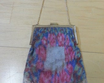 1920s Colorful Mesh Flapper Purse