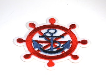 "Iron-on ""anchor"", applique, application (P55)"