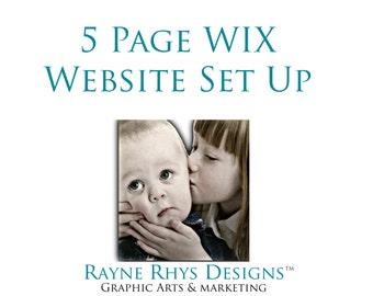 Custom WIX website design, WIX website branding, WIX website design, custom design