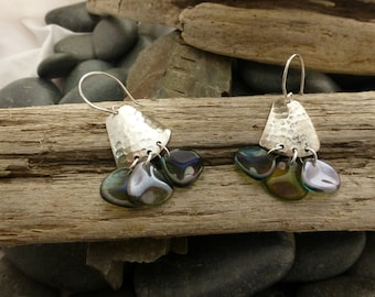 Silver and Glass Earrings