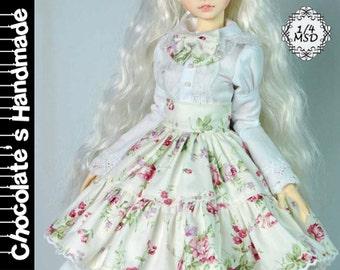 BJD Pattern MSD 1/4 Rose lolita dress set E-Pattern  [with English Instruction]
