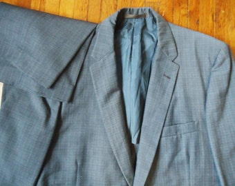 Vintage 60s Richman Brothers Gray Atomic Fleck Suit Rockabilly 40 36x30