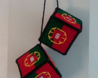 Portuguese Flag Car Dice