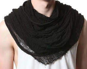 Buy 2 get 3rd FREE Hand shredded Tshirt Infinity Scarf Post Apocalyptic/Goth /Grunge