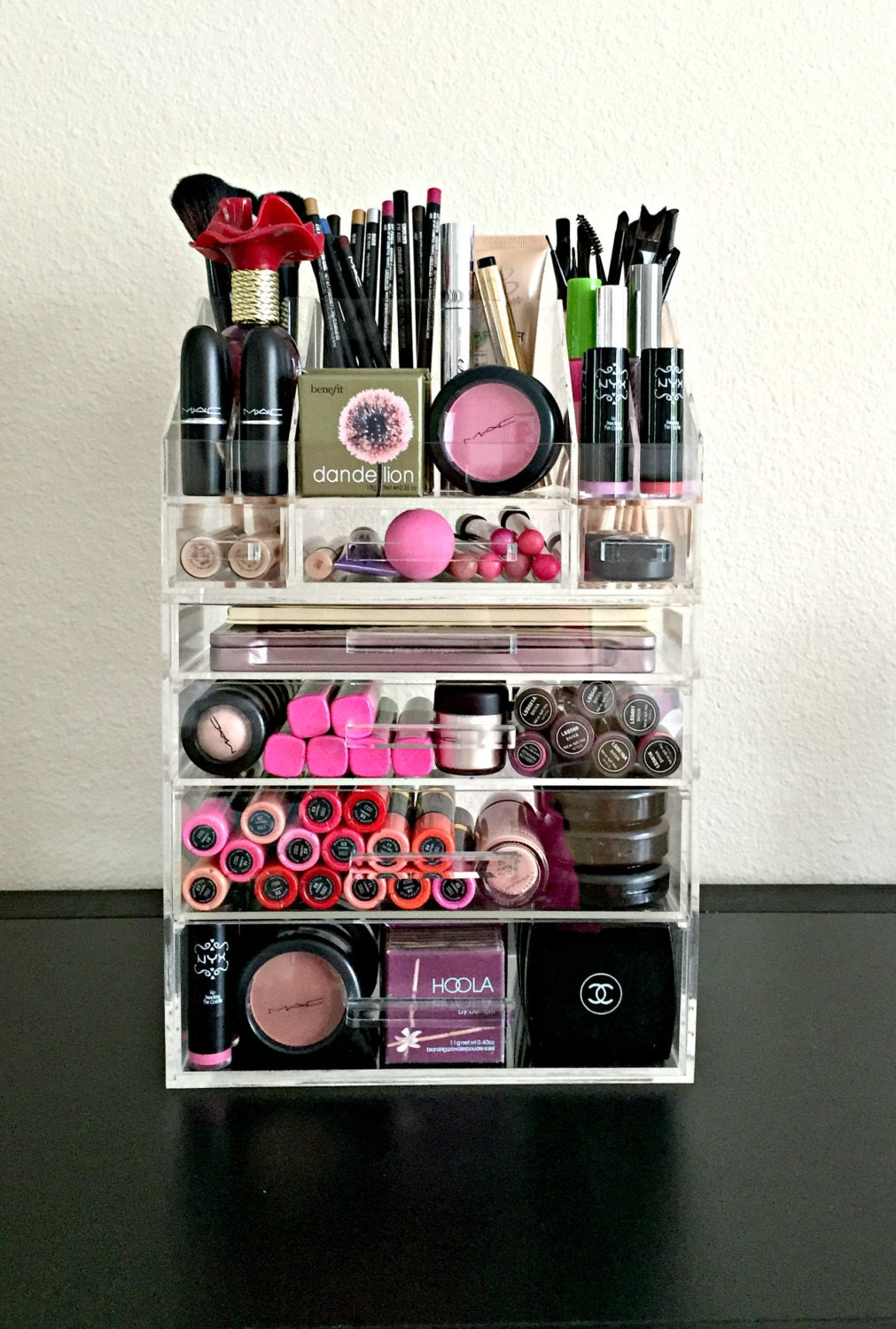 Acrylic Makeup Organizer 4 Drawer with Storage by MakeupOrganizer
