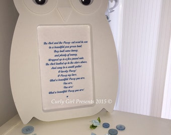 New Baby Gift Baby Shower Present owl