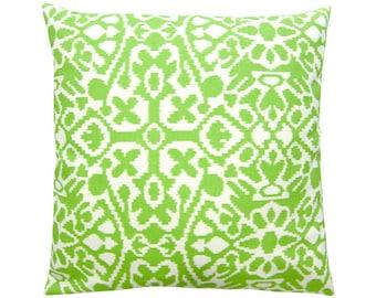 Pillow case SEVILLE ethno Ikat kiwi green white 40 x 40 cm
