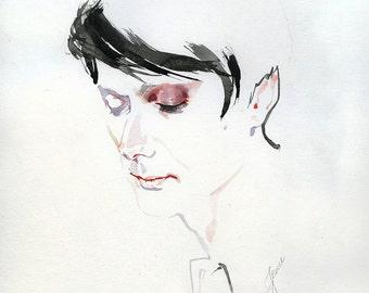 Brett Anderson, watercolor print