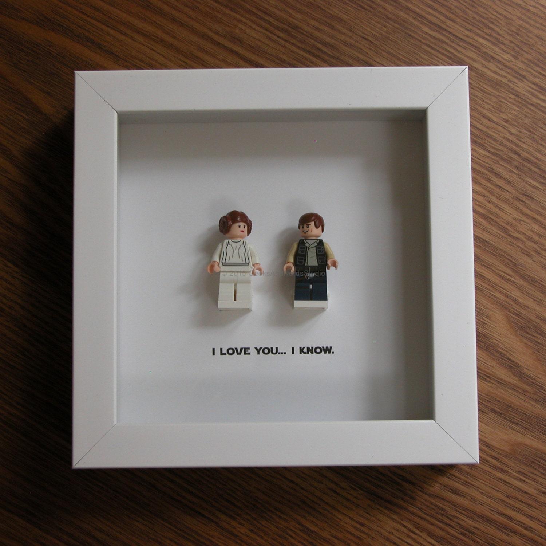 LEGO I Love You Know Star Wars Princess Leia Han Solo
