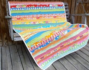 SANIBEL Jelly Roll Rag Strip Quilt