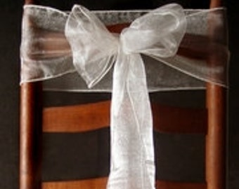 Organza Chair Sashes (9FT, 10 Pack)