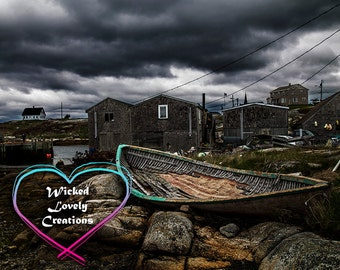 Peggy's Cove, 8x10 Photography Print, Landscape Photography, Ocean Photography, Halifax