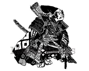 Samurai rubber stamp of a Shogun / Unmounted rubber stamp / Japan rubber stamp (150708)