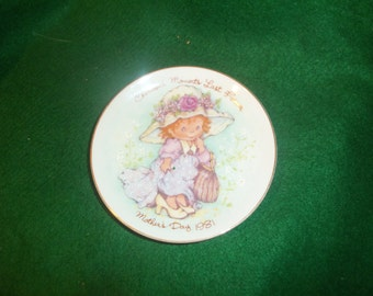 """Vintage """"Cherished Moments"""" Mother's Day Plate 1981"""