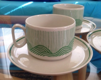 Vintage Tognana Italia Cup And Saucer Sets