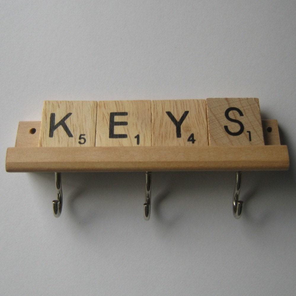 Wooden Key Hanger Key Holder For Wall By Mooseinthemint On