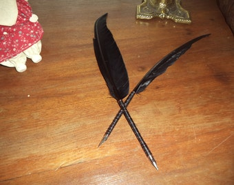 Guinea Fowl Feather Quill Pen For Calligraphy
