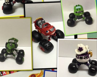 Blaze and the Monster Machines Fondant Toppers