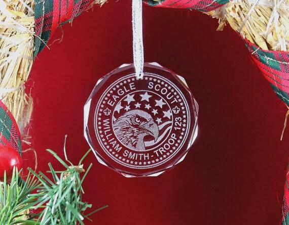 Custom Crystal Eagle Scout Ornament by FireflyCustom on Etsy