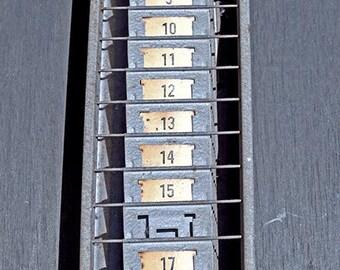 Industrial Time Card Holder /  STR / 1950's