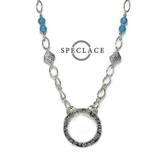 eyeglass necklace glasses chains spectacles holder blue