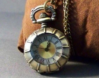 Pocket Watch-Steampunk Pocket Watch-Pocket Watch Vintage-Women's Pocket Watch-Gifts-Friendship Gift-Necklace Watch-Silver Pocket Watch