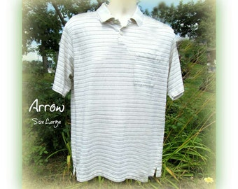 men's knit shirt, collared knit shirt, short sleeve shirt,polo shirt, size L (large),   # 100