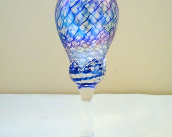 Art Glass Oil Candle Hand Blown