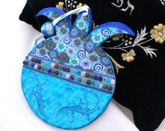 Shana Tova Rimon Ornament  from polymer clay, Jewish new year, Rosh hashanah, Passover Gift, Pesach Gift