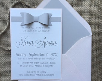 Modern Baby Baptisim Invitation, Simple and Elegant