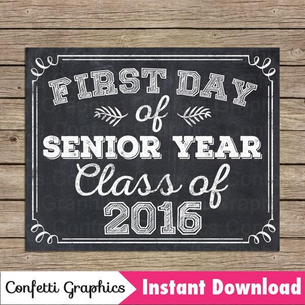 First day of senior year essay
