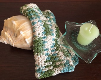 Ocean green dishcloth