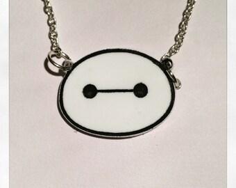Baymax Inspired Big Hero Six Acrylic Necklace