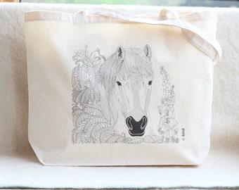 Horse Canvas Shopper