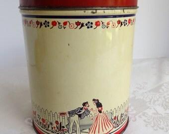 Vintage Coffee Canister. Vintage Kitchen Decor.