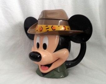 Safari Mickey Mouse Mug, Flip Top Plastic Mug, Disney on Ice