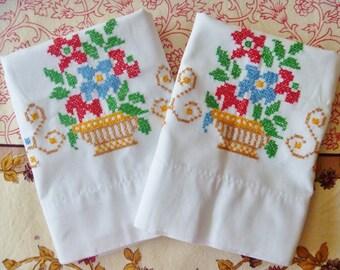 Cross Stitch Pillow Cases