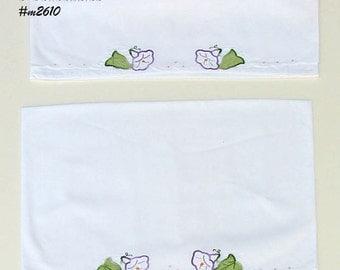 Vintage Purple Morning Glory Pillowcase Pair (inventory #M2610)