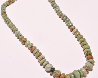 on 20% discount Beautifull 70 gram 1 full strand 19'' parrot natural green Jasper Beads Necklace Sterling Silver 925 clasp
