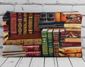 Book Print Pencil Case, Small Makeup Bag, Pencil Bag, Library Print, Book Lovers Gift, Teacher's Gift