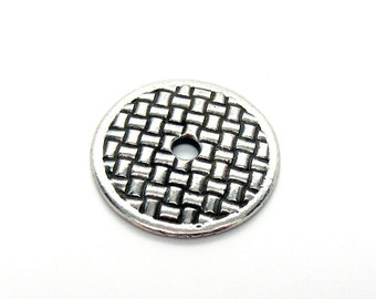 Pewter Button 18mm diameter with 2.5mm Opening
