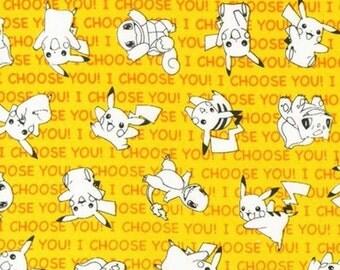 Pokemon Fabric - Yellow - Robert Kaufman