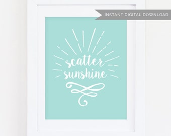 Scatter Sunshine  | Blue 5x7 Print | Instant Digital Download