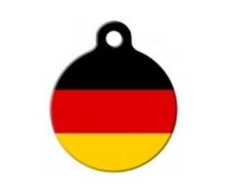 German Flag Pet Engraved Pet ID Tag