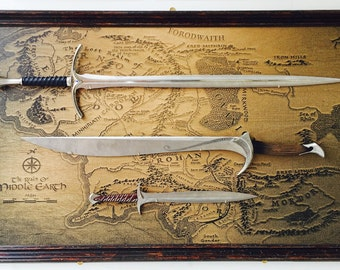 Lord of the Rings Middle Earth Replica Sword Display