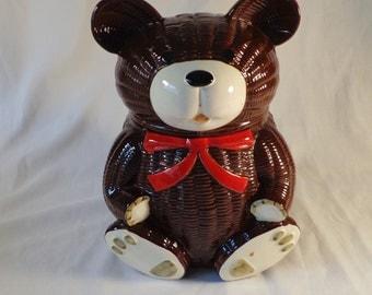 Cookie Jar ~  Brown Bear, Otagiri, Vintage, Made in Japan, 1979